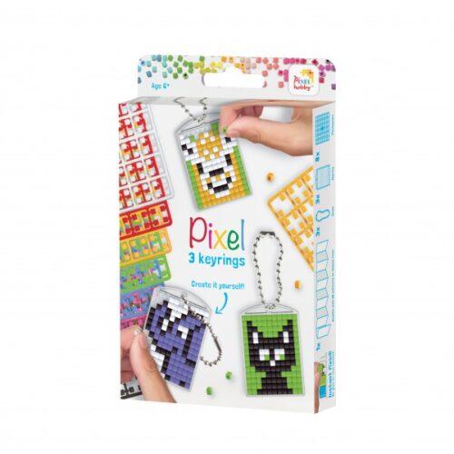 3er Set Pixel Schlüsselanhänger