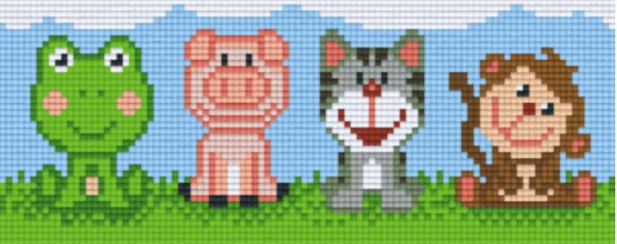 Pixeln Mosaikbild