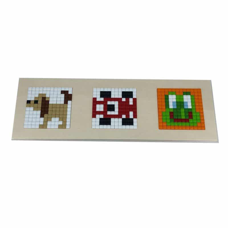 pixelhobby holzrahmen ideal f r 3 quadratische pixelbilder. Black Bedroom Furniture Sets. Home Design Ideas