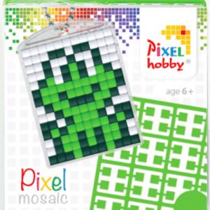 Pixel Schluesselanhaenger Frosch