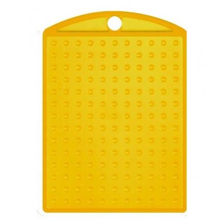 Pixel Schlüsselanhänger Medaillon Gelb