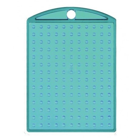Pixel Schlüsselanhänger Medaillon Tuerkis