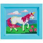 Pixel Hobby Bild im Rahmen Einhorn