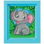 Pixel Hobby Bild im Rahmen Elefant
