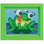 Pixel Hobby Bild im Rahmen Frosch