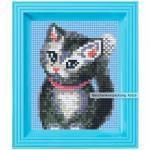Pixel Hobby Bild im Rahmen Katze