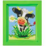 Pixel Hobby Bild im Rahmen Kuh