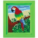 Pixel Hobby Bild im Rahmen Papagei