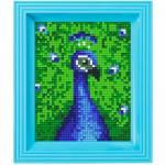 Pixel Hobby Bild im Rahmen Pfau