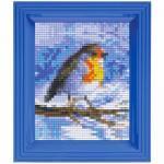 Pixel Hobby Bild im Rahmen Vogel
