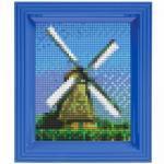 Pixel Hobby Bild im Rahmen Windmühle
