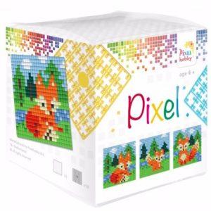 Pixel Wuerfel Fuchs
