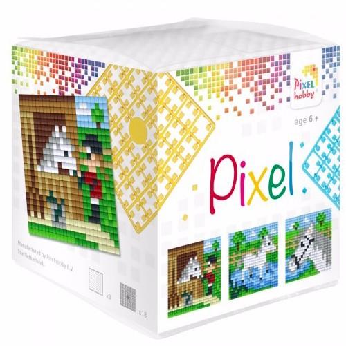 Pixel Wuerfel Pferde