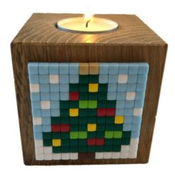 Pixel Teelichthalter