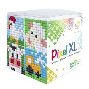 XL Pixelhobby Würfel Bauernhof