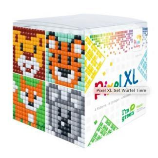 XL Pixel Würfel Tiere