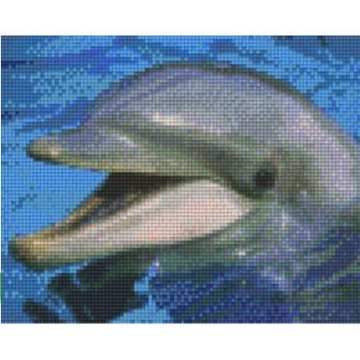 Pixel Vorlage Delphin