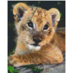 Pixel Vorlage Tiger
