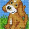 Pixelhobby Hund braun