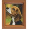 Mosaik Pixel-Set mit Rahmen - Beagle
