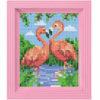 Mosaik Pixel-Set mit Rahmen - Flamingo Paar