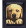 Mosaik Pixel-Set mit Rahmen - Golden Retriever