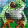 Tier Motive mit 1 Basisplatte - Frosch