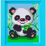 Pixelhobby Panda mit Rahmen