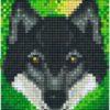 Tier Motive mit 1 Basisplatte - Wolf