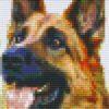 Pixelhobby Vorlage Hund