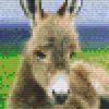 Pixelhobby Vorlage Esel