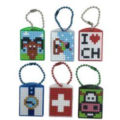Pixel Schlüsselanhänger Schweiz