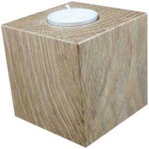 Teelicht Holzwürfel Eiche