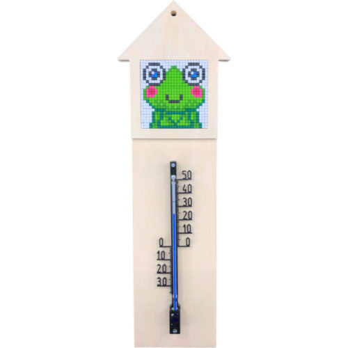 Thermometer Station Holz