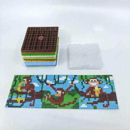 Pixelwürfel Affe