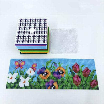 Pixelwürfel Blumen