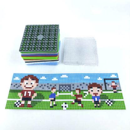 Pixelwürfel Fussball