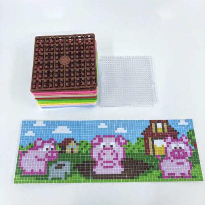 Pixelwürfel Schwein