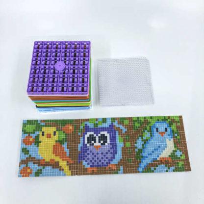 Pixelwürfel Vögel