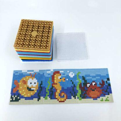 Pixelwürfel Wassertiere