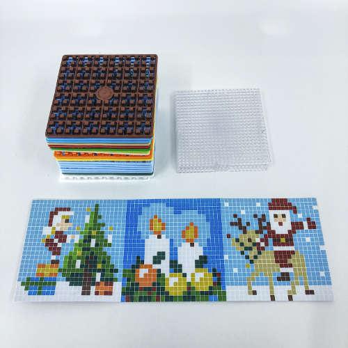 Pixelwürfel Weihnachten