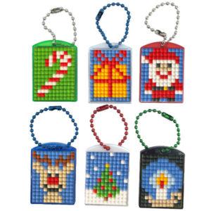 Pixel Schlüsselanhänger Weihnachten