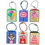 Pixel Schlüsselanhänger Set Sweets