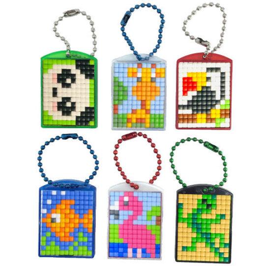 Pixel Schlüsselanhänger Set Wildlife
