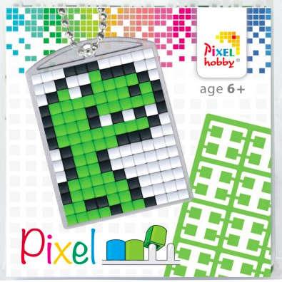 Pixel Schlüsselanhänger Dino