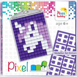 Pixel Schlüsselanhänger Einhorn