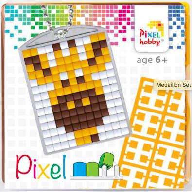 Pixel Schlüsselanhänger Giraffe