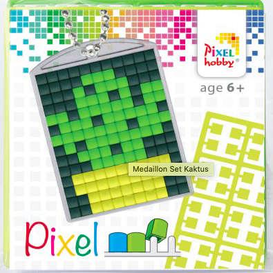 Pixel Schlüsselanhänger Kaktus
