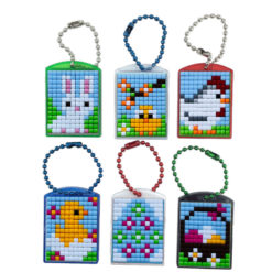 Pixel Schlüsselanhänger Set Ostern