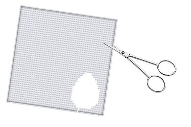 Pixel Grundplatte schneiden